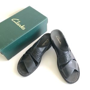 Clarks Womens Size 8 Braided Slide Sandal Blue